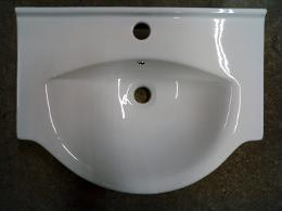 55Z semi recessed vanity basin 555mm 420mm