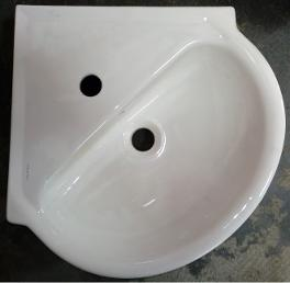 Laufen Pergamon corner basin english soft white