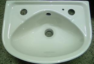 Pergamon Soft White Wall Basin Cloakroom