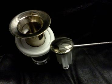 Gold Bathroom Basin Pop Up Waste For Mixer Tap. Metal Plug