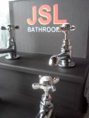 Edwardian Traditional cross headed chrome bathroom taps