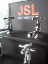 art deco taps bathroom chrome cross heads