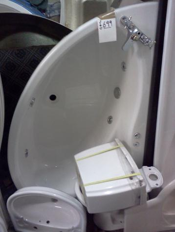 1500 1000mm offset whirlpool corner bath with seat