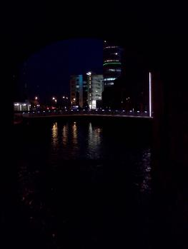 Leeds City Centre Night Scene River Aire Leeds Dark Arches