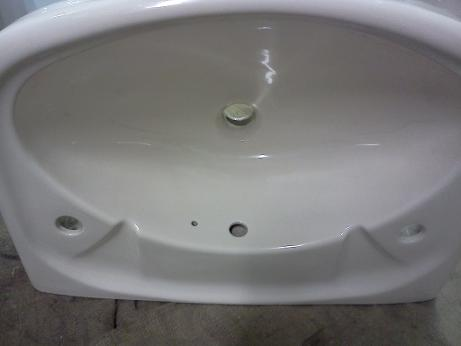 Soft Cream 2 Tap Hole Basin