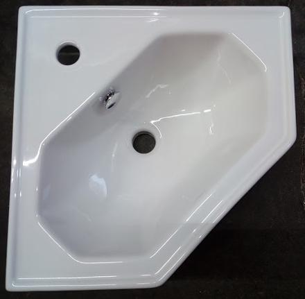 tc bathrooms vitoria corner basin one hole
