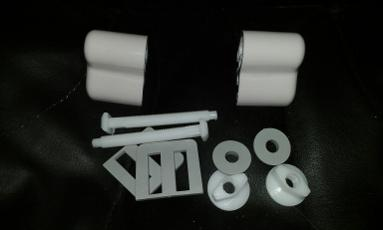 Whisper pink colour toilet seat hinges macdee plastic