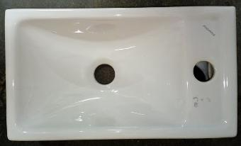 wall mounted bathroom basin oblong rectangular Fayans