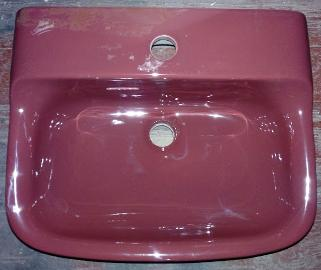 burgundy mono one hole basin ideal standard