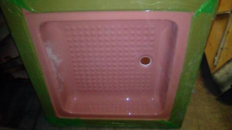 cameo pink shower tray