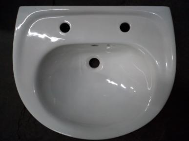 centresuite basin white two tap hole round