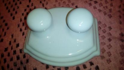 imperial oxford ceramic double robe hooks