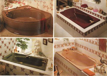 Old Bathroom Colours Basins Toilets, Discontinued Bathroom Accessories