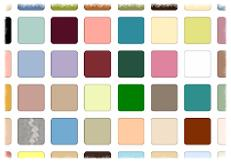 old obsolete discontinued bathroom colours chart samples 60s 70s 80s