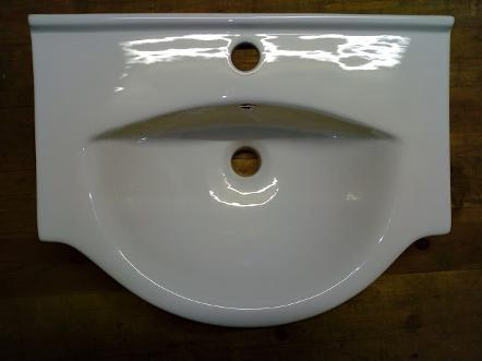 large semi recessed tc bathroom basin