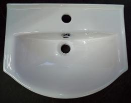 console one hole semi recessed basin sink bowl 450