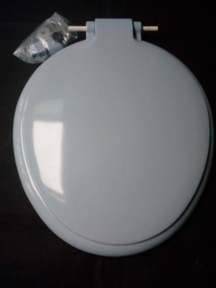 cornflower blue toilet seat thermoplastic