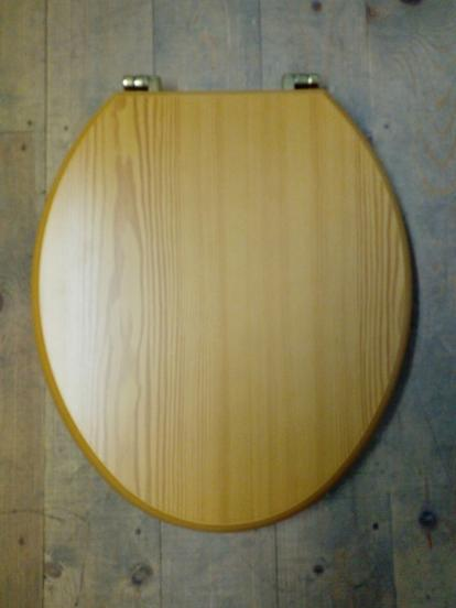 pine mdf seat brass hinges