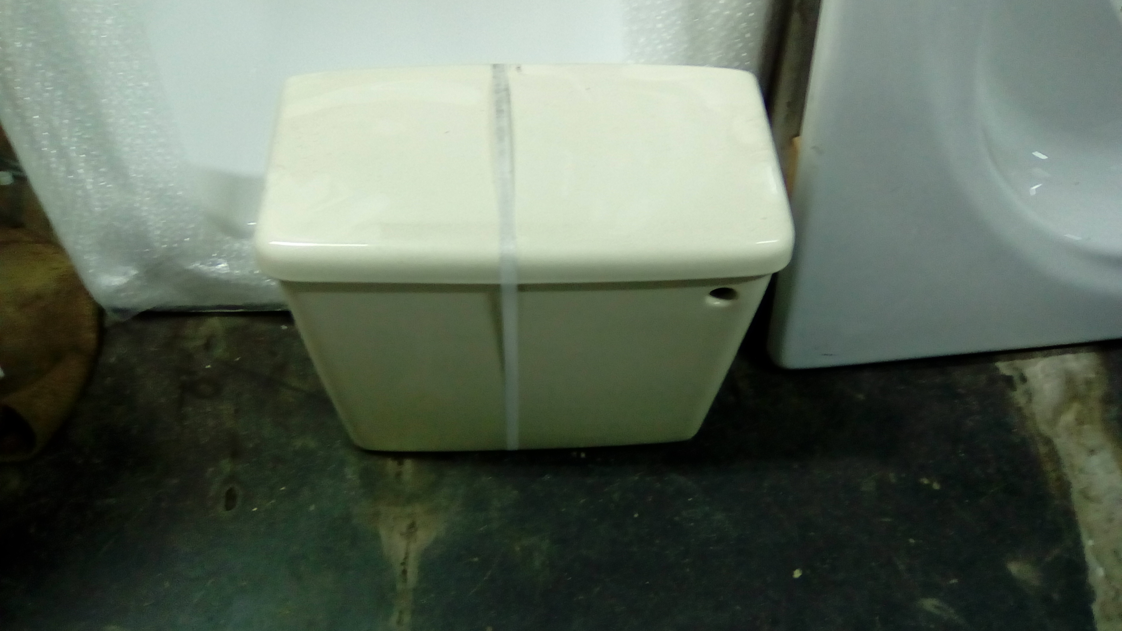 Indian Ivory Colour Bathroom Parts. Cisterns Basins Baths Seats