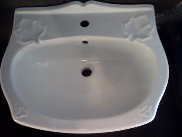 ivy leaf patterned basin monobloc one tap hole flowers