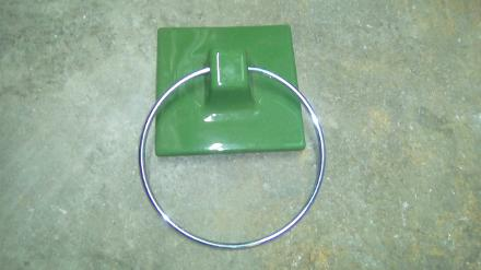 jade ceramic towel ring hook carron wall
