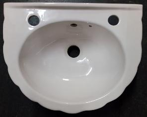 Soft Cream Wall Basin Small Shell