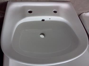 large two tap hole bathroom basin