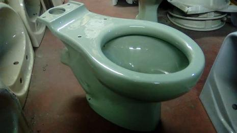 twyford syphonic close couple toilet pan linden green