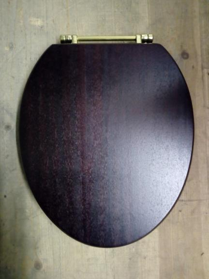 mahogany superb toilet seat gold brass