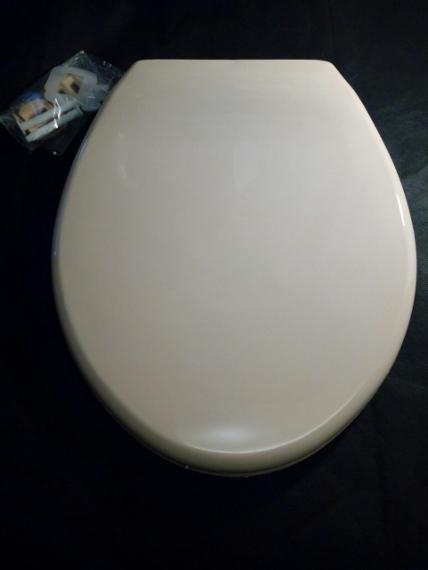 peach toilet seat thermo plastic macdee