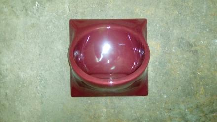 penthouse red burgundy ideal soap dish ceramic