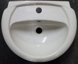pergamon small basin one hole mono wall