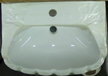 qualcast shell oyster white bathroom basin mono