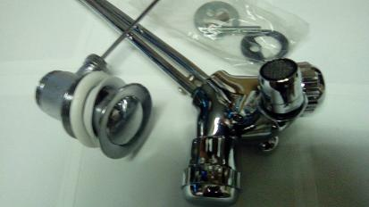 chrome mixer for bidet spray monobloc hole one