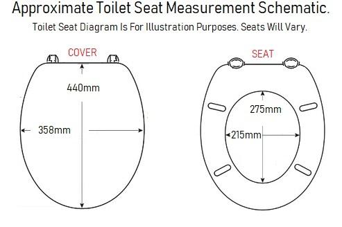 sp water saver toilet seat diagram sizes