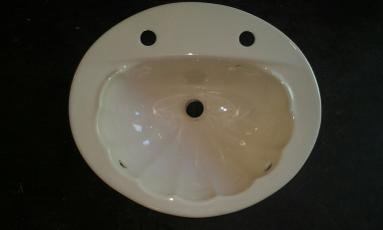 karat shell vanity basin ceramic soft cream