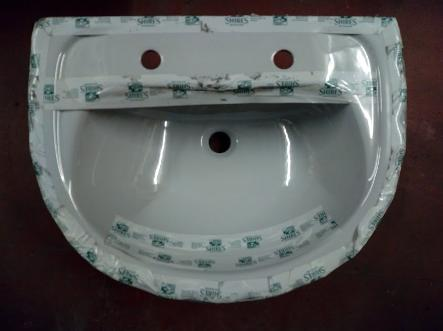 shires shell grey basin two tap holes