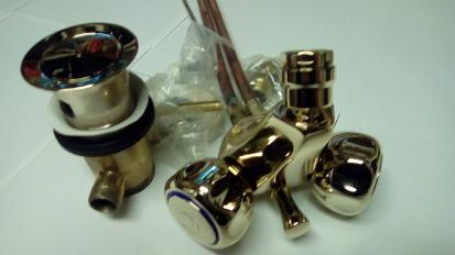 bidet mixer tap gold tantofex one tap hole