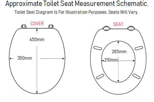 tc bathrooms standard mini square toilet seat size