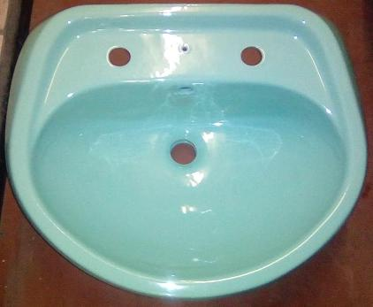 turquoise colour wash basin for bathroom pedestal