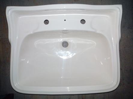 whisper cream two large upstand basin
