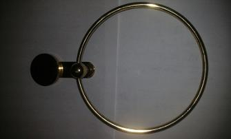 W Adams gold towel ring brass british made uk