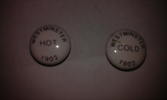 westminster tap indices 1902 hot cold ceramic