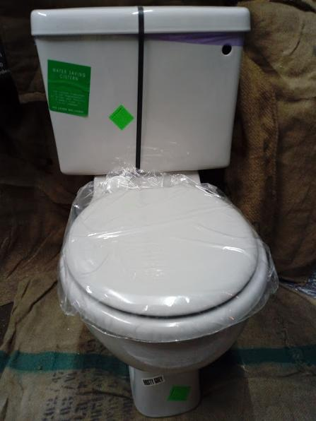 whisper grey loo toilet wc new