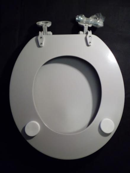 misty grey gray toilet wc seat cover