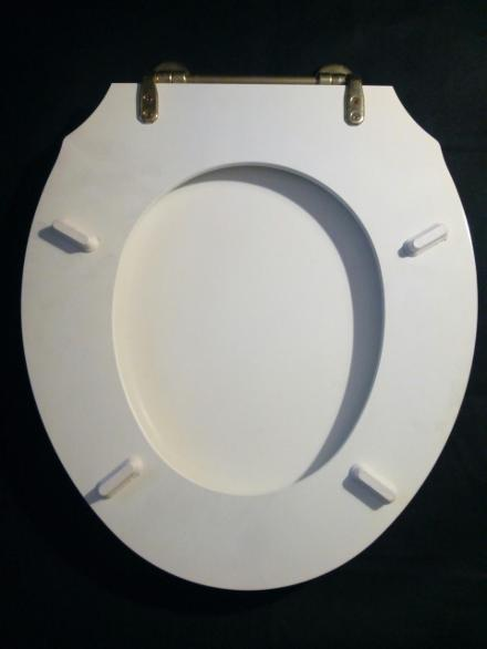 gothic white wood mdf seat loo wc